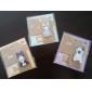 små kartong djur leksak självhäftande anteckningar (slumpmässig färg)