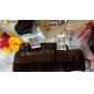 60st 6 blandade stilar naturliga handgjorda svart längre tjockare fiber lösögonfransar