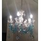 40 Lustre ,  Traditionnel/Classique Chrome Fonctionnalité for Style Bougie Acrylique Salle de séjour Chambre à coucher Salle à manger