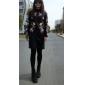 floare mare gât bodycon imprimare rochie cu maneca lunga pentru femei