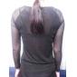 Femei În V Bluză Casul/Zilnic Simplu(ă),Mată Manșon Lung Primăvară-Roșu / Alb / Negru Subțire