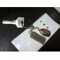 mus och tangentbord formade metall nyckelring, par