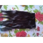 lång syntetiskt rakt och clip in hårförlängningar med 5 clips