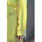 Dame Nuntă Larg Rochie-Mată Manșon Lung V Adânc Sub Genunchi Verde Galben Primăvară Toamnă Micro-elastic Mediu