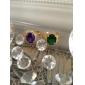 7 färger lyx cz sten zirconia Ring smaragd safir rubin 18k chunky guldpläterad smycken gåva för kvinnor