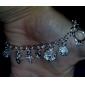 pendentif bracelet de plaque d'argent des femmes vives