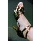 imitație de piele superioare latine pantofi de dans minunat de culori metalice, pantofi sală de bal pentru femei