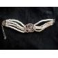 bracelet motif de rose de perle de chance poupée femmes