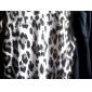 Manera de las mujeres de moda de la camiseta de manga larga de la impresión del leopardo Tops Blusa sueltas