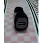USB Bil Adapter för cigarettändare laddare - Grön (DC 12 ~ 24V)