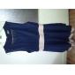 Femei Maieuri Pleated Chiffon Mini Dress