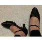 Chaussures de danse(Noir) -Non Personnalisables-Talon Bobine-Cuir-Moderne Salon