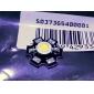 Epistar 3200-3500k 3w 170-190lm 700mah chaude ampoule LED à lumière blanche avec une plaque d'aluminium (3,4-3.8V)
