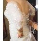 Fit & Flare Plus Sizes Wedding Dress - Ivory Chapel Train Off-the-shoulder Taffeta