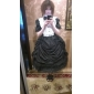 Une Pièce/Robes Lolita Classique/Traditionnelle Rétro Cosplay Vêtrements Lolita Noir Rétro Manches longues Moyen Robe Manche Pour Coton