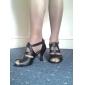 La Tige en cuir T-Strap latine / Ballroom Dance Shoes personnalisées