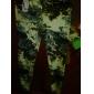 Women's Fashion Khaki Flower Pattern Leggings