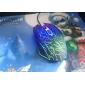 usb trådbunden spelmus 2400 dpi 6d med färgglada LED-ljus lysande