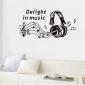stickers muraux stickers muraux, décoration murale musique affiche pvc stickers muraux