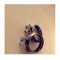 Personlig Smycken-Glam Klassisker Modern Kreativ- avRostfritt stål- iSilver-Ringar