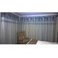 modernes deux panneaux solides gris salon rideaux poly coton mélangé de stores opaques