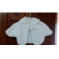 Flower Girl's Faux Fur Evening/Wedding Shawl With Bow