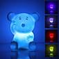 öt och färgglad LED-nattlampa i muform (3xLR44)