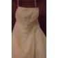 Ball Gown Plus Sizes Wedding Dress - Ivory Chapel Train Strapless Chiffon