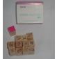 12pcs en bois de style de fleur Stamp Set DIY