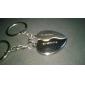 Personlig graverad gåva ett par Heart Shaped Lover Keychain