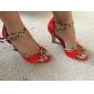 latin anpassnings kvinnors sandaler satin dansskor fler färger