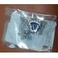 BIN BIN Kvinnors Platinum Zircon Pendant Inkl. Kedja (D0574)