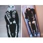 Kigurumi Pyjamas nya Cosplay® Skelett Trikå/Onesie Festival/högtid Pyjamas med djur halloween Svart/Vit Lappverk Polär Ull Kigurumi För