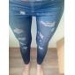 Feminin Denim Legging Subțire