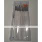 15pcs peinture blanche conception de manucure dessin brosse plume bois mis en acrylique poignée brosse