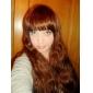 Capless Long Synthetic Ljusbrunt rakt hår peruk Full Bang