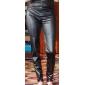 Women's Honed High Waist PU Tights Legging
