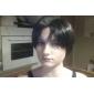 Perruques de Cosplay Attack on Titan Levy Noir Court Anime Perruques de Cosplay 35 CM Fibre résistante à la chaleur Masculin