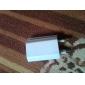 vit kompakt 2 stift europeisk usb väggladdare 100 - 240v eu resor nätadapter