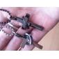 en forme de croix de cadeau personnalisé gravé collier de couple (moins de 10 caractères)