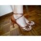 kvinnors satin ankelbandet latin / ballroom dansskor med rynkad (fler färger)