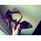 Chaussures de danse(Bleu Violet) -Personnalisables-Talon Personnalisé-Satin-Latine Salon