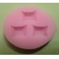 Tre hål Candy silikonform Fondant Formar Sugar Craft Verktyg Harts blommor Mould formar för kakor