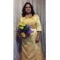 ISBEL - Brudens Mor-Klänning av Satäng och Spets med Bolero