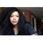3st mycket 8-26 tum obearbetat mongoliska jungfru hår naturligt svart färg afro kinky lockigt människohår väva