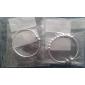 925 mode en argent simple bracelet de Aimei femmes