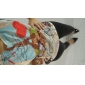 Femei Rotund TricouImprimeu Manșon scurt Primăvară / Vară / Toamnă-Multi-color Subțire Bumbac / Altele