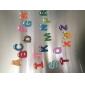 Drôles magnétiques d'alphabet 26 lettres en bois Aimants jouet éducatif pour enfants (26-Pack)