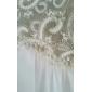 Linia -A Pe Umăr Lungime Podea Dantelă Georget Bal Seară Formală Rochie cu Dantelă de TS Couture®