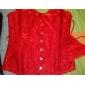 Feminin Corset peste Bust Pijamale Altele Alb / Roșu / Negru